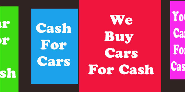 cars bought for cash banner