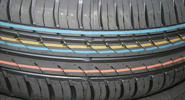 The modern radial tyre new tread