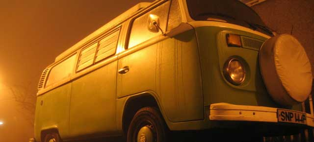 old valuable vw campervan