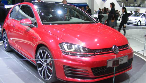 Red VW Golf GTi Paris Motor Show 2012