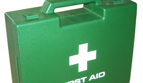 be prepared for first aid when working in a breaker yard